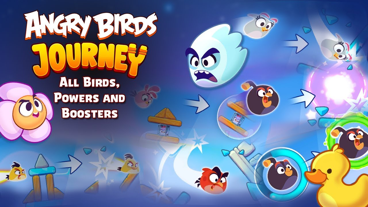 Angry Birds Journey - Gameplay of All Birds, Powers and Boosters - YouTube