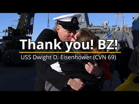 USS Dwight D. Eisenhower Ends 2016 with Families