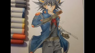 Yu-Gi-Oh 5Ds : Yusei Fudo Speed Drawing