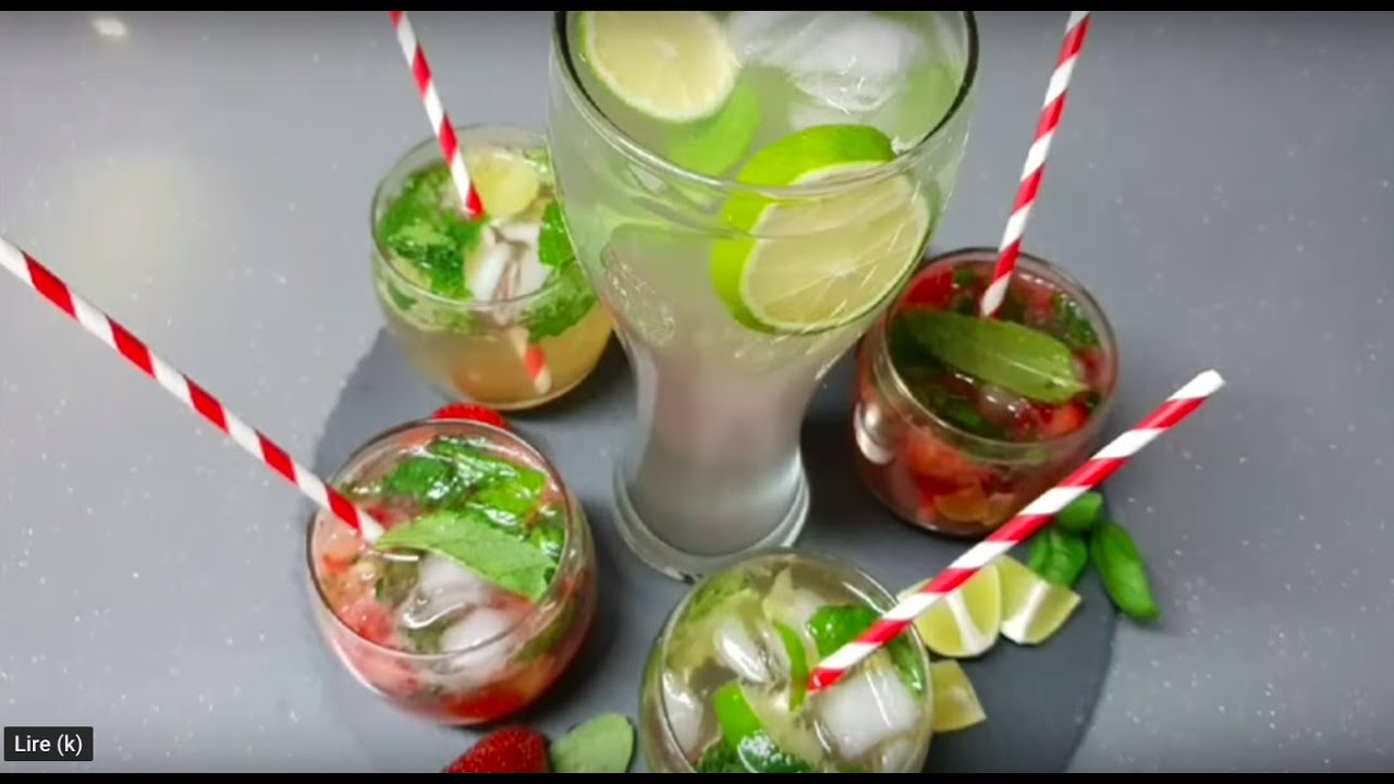 Boisson Rafraîchissante Pour L''été En 2 mn مشروبات طبيعية ومنعشة في دقيقتين  - YouTube