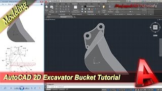 AutoCAD 2D Drawing Excavator Bucket Exercise 20