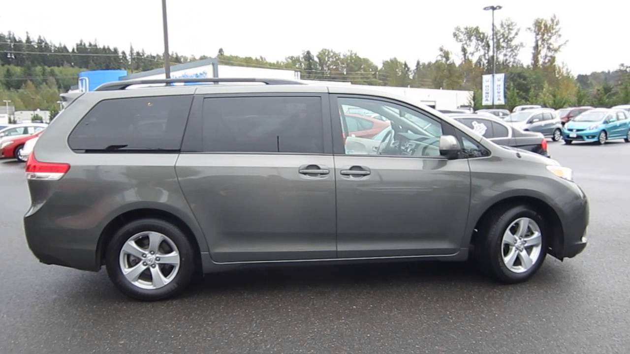 2011 toyota sienna predawn gray mica stock b2320 walk around