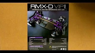 rmx d vip 1 10 scale 4wd electric drift car chassis arr unboxing first look