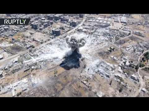 Drone footage: SAA strikes al-Qaeda-linked militants in Ain Tarma