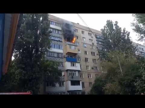 Пожар 17.08.19 Одесса маршала Жукова 14 Часть 2