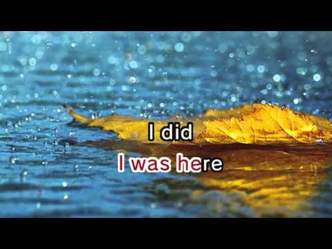 I Was Here (Karaoke and Lyric Version)
