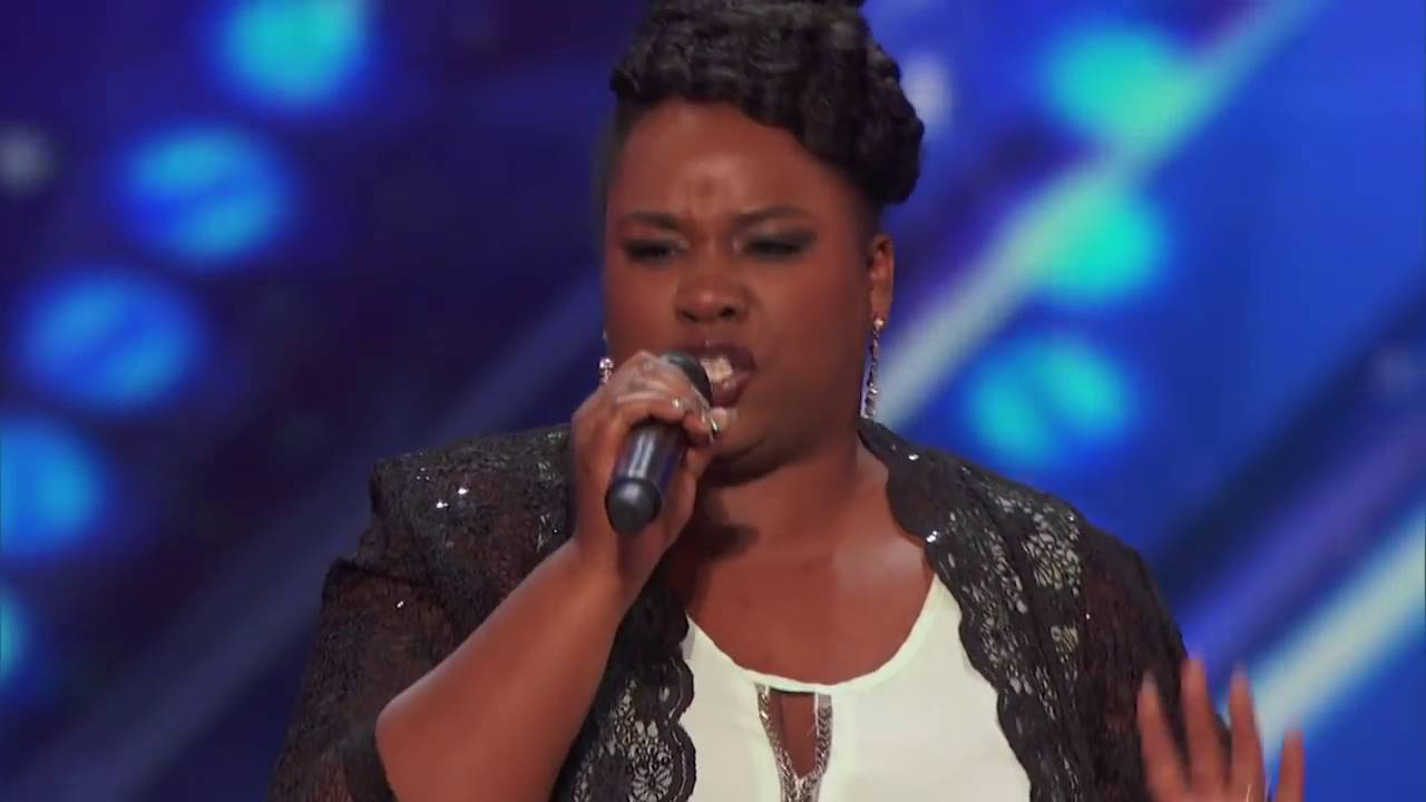 Moya Angela sings It's All Coming Back To Me Now   Week 6   Americas Got Talent 2016 Full Auditions
