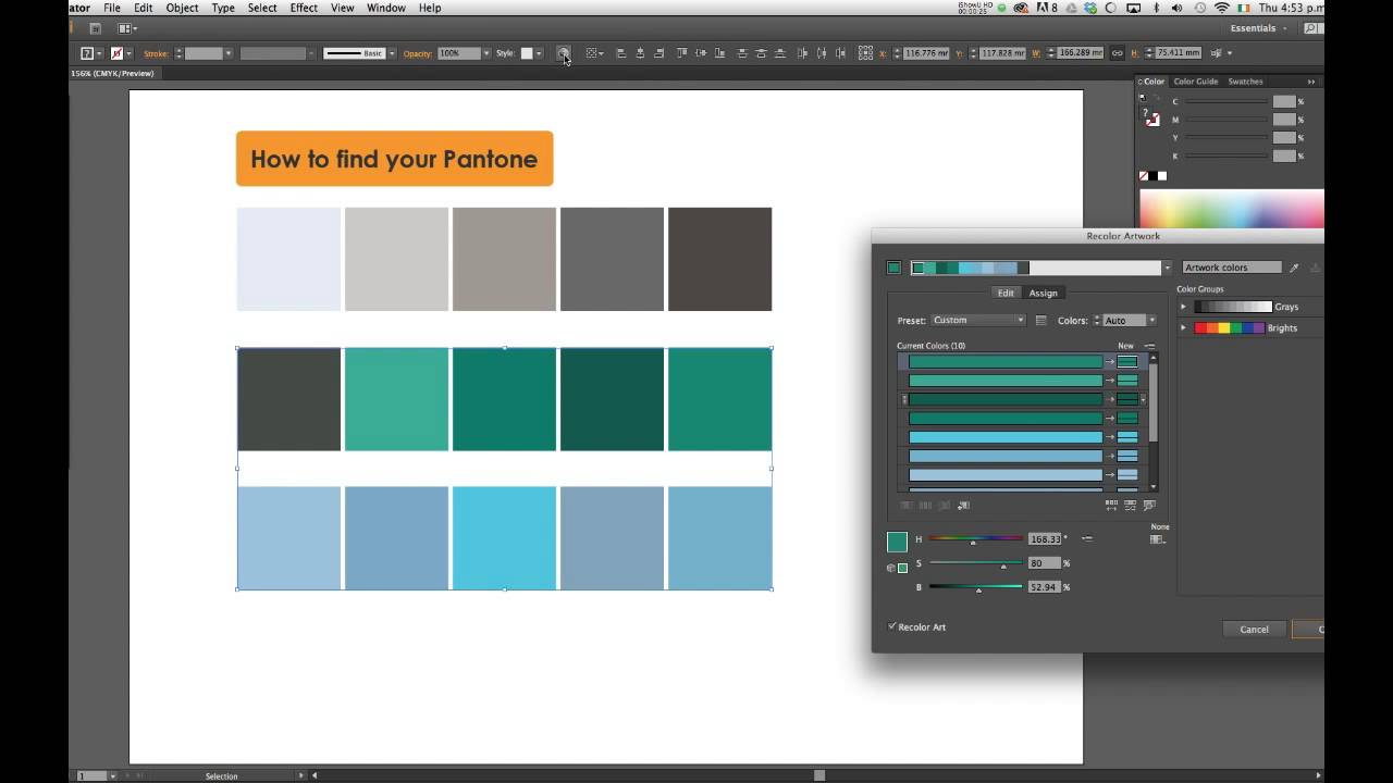 nuancier pantone illustrator cs5