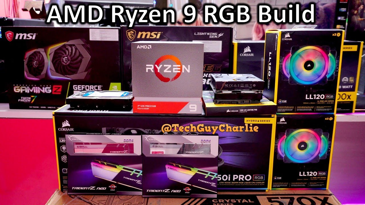 Amd Ryzen 9 Rgb 4k Video Editing Content Creation And Casual Gaming Rig Build 3900x Rtx 2070 Youtube
