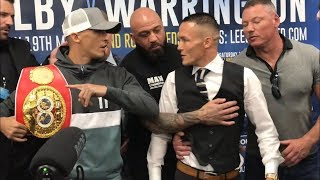 HEATED: Lee Selby v Josh Warrington separated at final face off