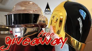 Daft Punk Helmet Giveaway Winner Announcement plus the CHEAPEST way to make a Daft Punk Helmet