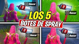 FIND THE MISSED SPRAY BOTTLES - [ALL LOCATIONS] DISPARATE AND PAINT Fortnite