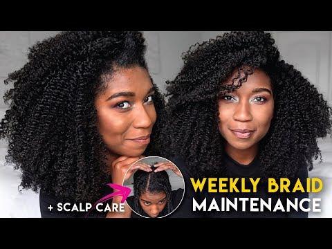 SCALP CARE | Maintaining BOX BRAIDS Through The Week + JUICY BRAID OUT! ft Melanin Haircare
