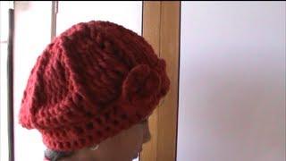 Repeat youtube video Como Hacer Un Gorro En Crochet Ganchillo