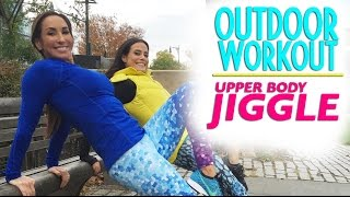 Upper Body Jiggle Be Gone! Outdoor Workout in NYC | Natalie Jill