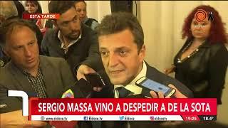 Murió De la Sota: Sergio Massa en Córdoba y por El doce