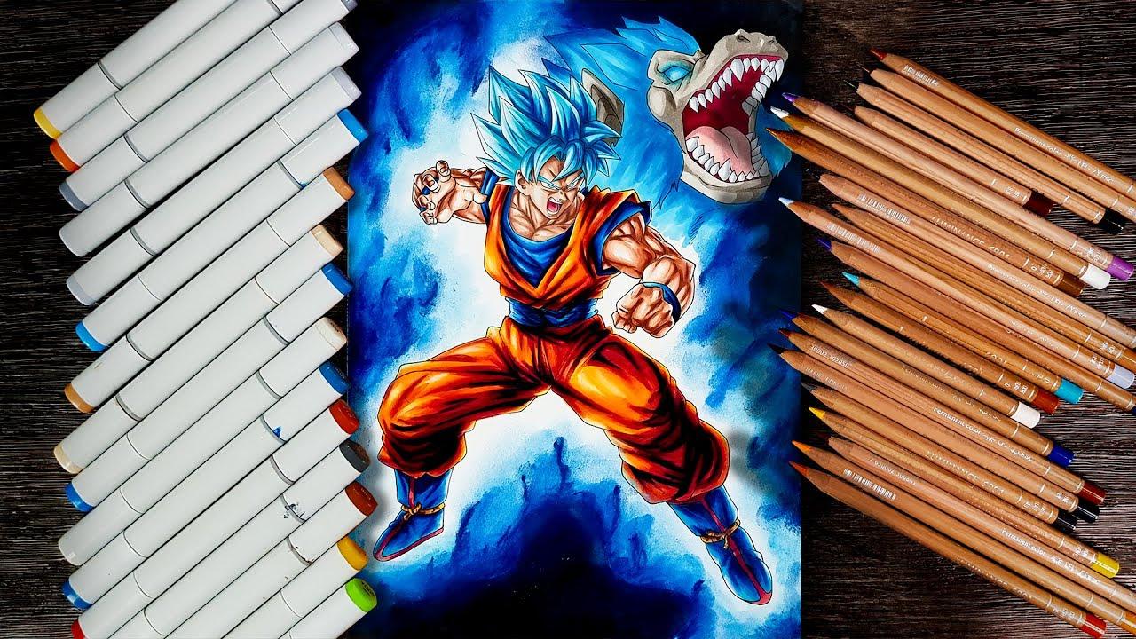 Drawing Goku Super Saiyan God Super Saiyan Slumbering Beast