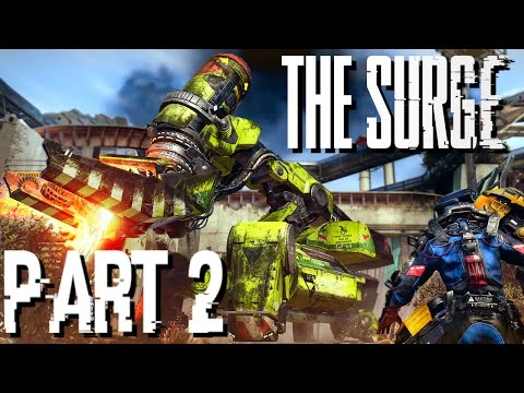 The Surge Walkthrough PART 2 FIRST MINI BOSS - MECH BULLDOZER