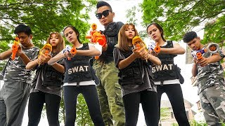 Hihahe Nerf War: SWAT & Special Unit Police Nerf Guns Bandits Find the Treasure Nerf War