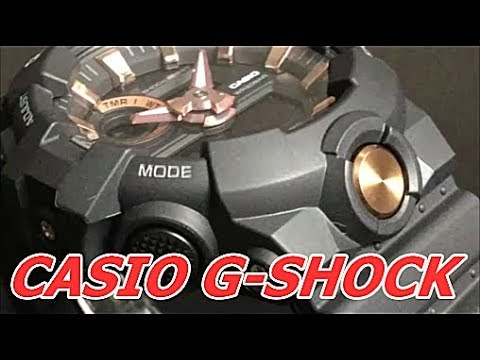 CASIO G-SHOCK BLACK   GOLD GA-710B-1A4JF - YouTube 0d90c4ae38f
