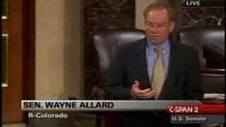 Wayne Allard Wants Health Insurance