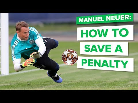 HOW TO SAVE A PENALTY with MANUEL NEUER | learn goalkeeper skills
