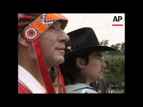 USA : WASHINGTON : NATIVE AMERICAN TRIBE LEADER'S PROTEST