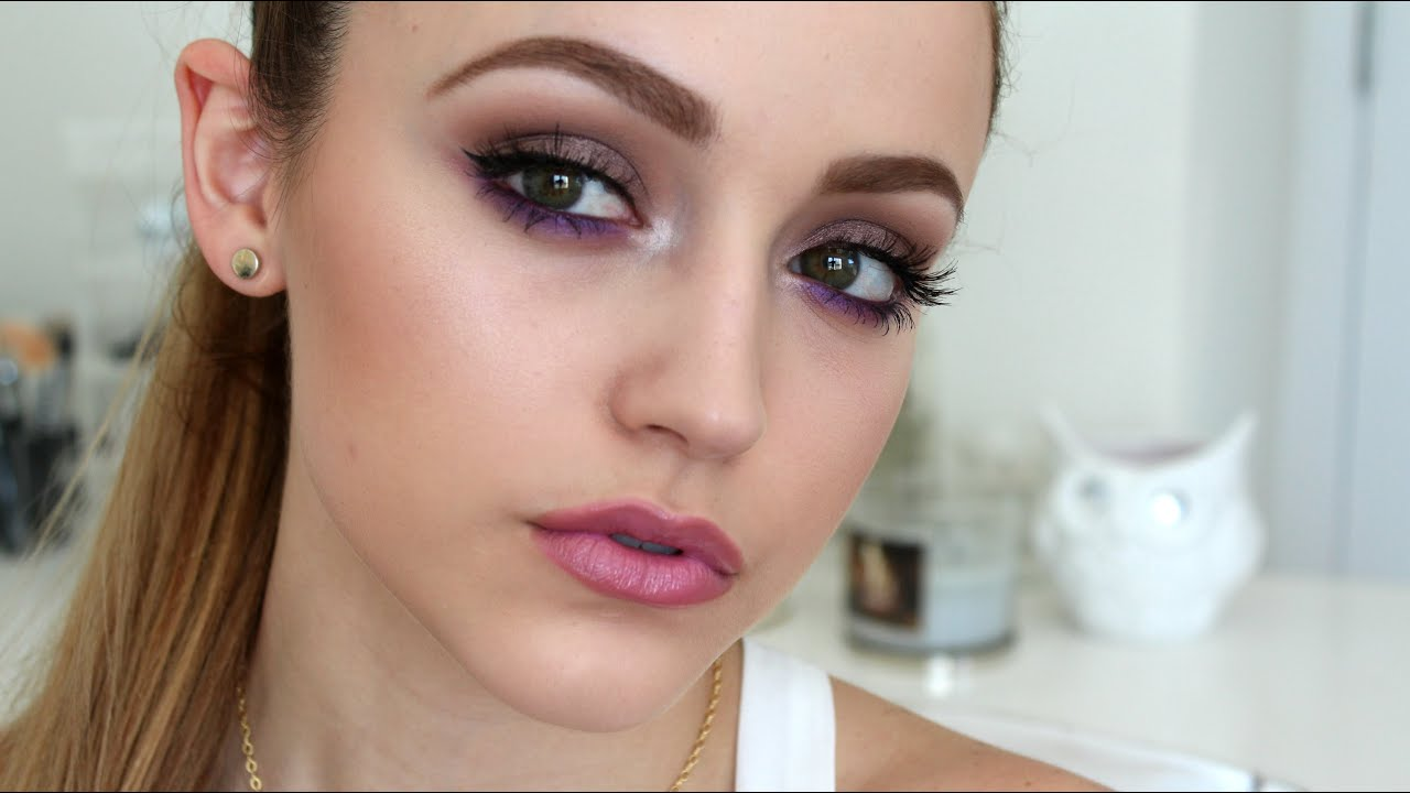 Simple Taupes Purples Makeup Look Youtube