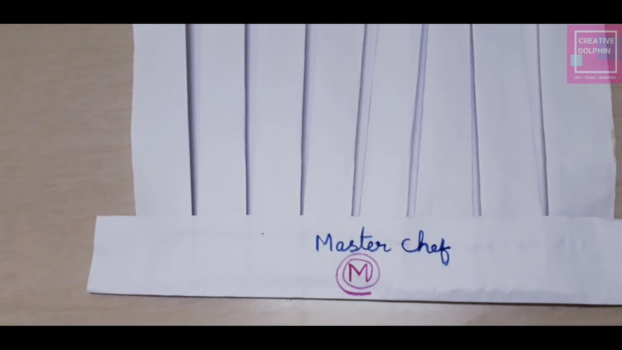 How to make a Master Chef cap in easy way    beautiful masterchef cap from paper    Master Chef Cap