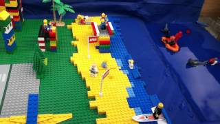 How a Tsunami works in lego town