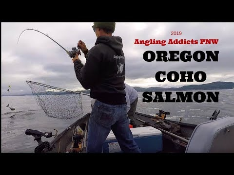 Oregon Coast Coho Salmon Fishing | Trolling For Coho On The Oregon Coast