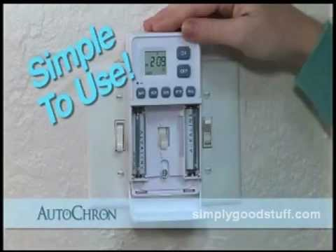 Autochron Programmable Light Switch Timer Youtube