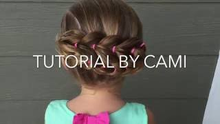 How to do an easy pull through braid up do