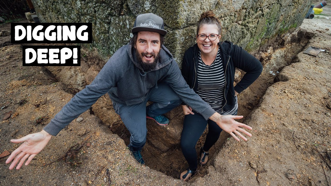 Excavating Around Our 100 Year Old Stone Barn! Portuguese Homestead Series