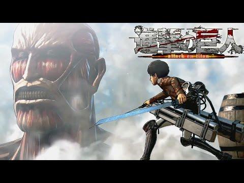 Attack on Titan Game Walkthrough Part 1 [PS4] Colossal Titan Boss Battle