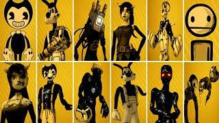 Bendy and the Ink Machine ALL CHARACTERS 1, 2, 3, 4 BATIM Chapter 4 EXTRAS