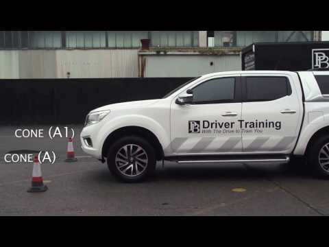 Car and Trailer - DVSA Test - B+E Reversing Exercise Demonstration