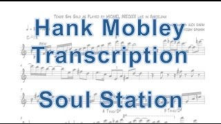 Soul Station - Hank Mobley (Transcription)