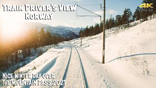4K CABVIEW: Nordic Express Train over the Mountain pass 2021