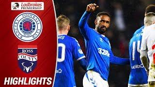 Rangers 2-0 Ross County | Defoe Stretchered Off After Scoring | Ladbrokes Premiership