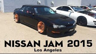 2015 Nissan JAM Car Show Meeting + Cars Leaving Parking - Los Angeles -