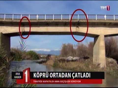 Köprü Ortadan Çatladı