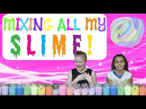 MIXING ALL MY SLIME!!!