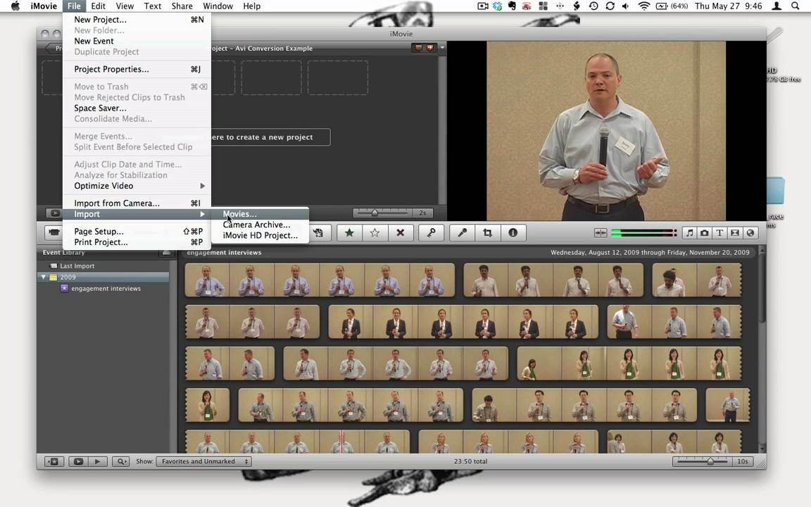 how to find imovie files