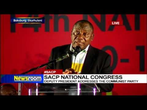 Deputy President Cyril Ramaphosa addresses the SACP national congress