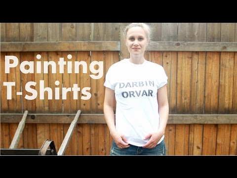 How To Paint T-shirts