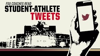 Courtesy http://www.seminoles.com: Florida State coaches read tweet...