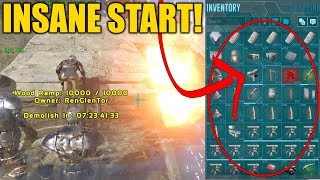 THEY HAD SO MUCH LOOT! BEST START EVER... - Small Tribe Official PvP - Ark Survival Evolved