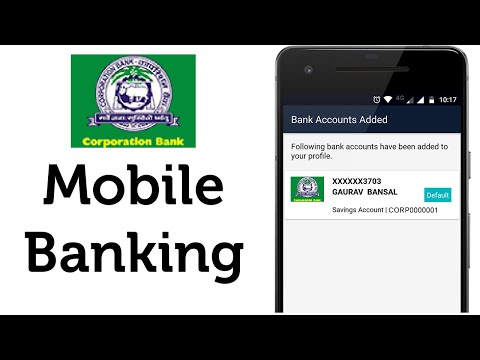 Corporation Bank Mobile Banking using App