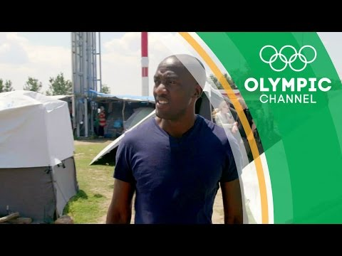 Olympic Rowing Champion Sizwe Ndlovu Visits Refugees in Greece | Camps to Champs